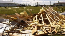 People in parts of central Alberta are now surveying the damage after violent storms blew through the province Thursday night.