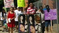 Dozens took part in an awareness walk for missing 21-year-old Amber Tuccaro and other missing aboriginal women Saturday, July 30.