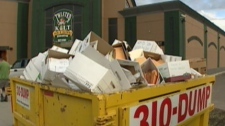 Dozens of personal files were discovered in a dumpster outside a west-end restaurant on Thursday, Aug. 25, 2011.