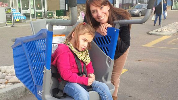 Sherwood Park resident Carla Romaniuk said the addition of a special needs cart will make it easier to take her daughter, Ashley, to the grocery store.