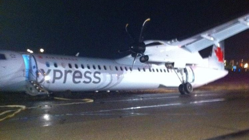 Air Canada plane was forced to land at Edmonton International Airport Thursday evening. Courtesy: Adam Heath