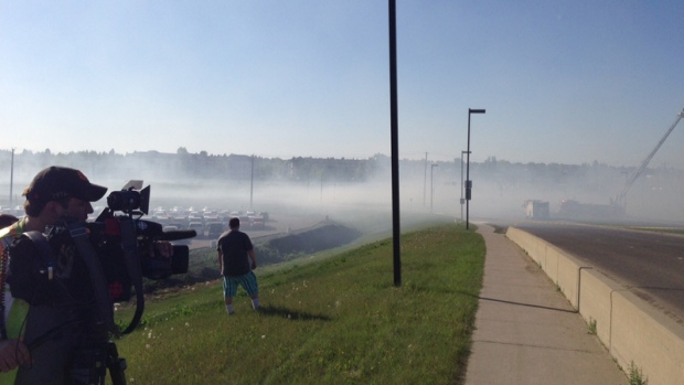 A condo building on 301 Clareview Station Dr. was the scene of a serious fire on Friday, May 22.