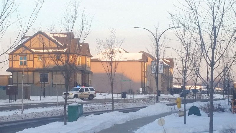 RCMP in east Spruce Grove - officers investigated reports of shots fired in the area. Courtesy: Alex Bosse