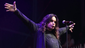 This Aug. 3, 2012 file photo shows Ozzy Osbourne of Black Sabbath performing at the Lollapalooza festival in Chicago's Grant Park. (Photo by Steve C. Mitchell/Invision/AP, file)