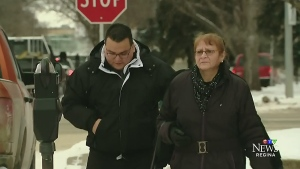 Kevin Goforth is seen outside Court of Queen's Bench in Regina in this undated file photo.