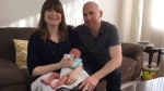 St. Albert baby delivered by dad at home