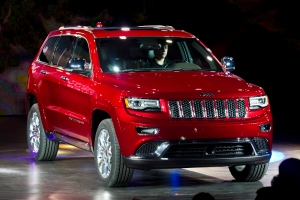 In this Jan. 14, 2013 file photo, the 2014 Jeep Grand Cherokee is introduced at the North American International Auto Show in Detroit. (AP /Tony Ding)