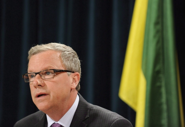 Saskatchewan Premier Brad Wall is seen at a news conference in Regina on Saturday, Jan. 23, 2016. (Mark Taylor/THE CANADIAN PRESS)