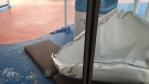 This image made available by Flavio Cadegiani shows damage to Royal Caribbean's ship Anthem of the Seas, Monday, Feb. 8, 2016. (Flavio Cadegiani via AP)