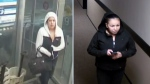 Edmonton police released two images taken from surveillance footage showing two female person-of-interest being sought in connection to a January 20 break and enter in the MacTaggert neighbourhood.