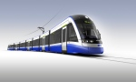 Concept art for Edmonton's planned LRT cars is shown in this image released by Bombardier.