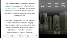 Uber Edmonton - Suspension