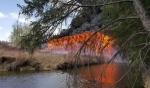 Mayerthorpe trestle bridge fire