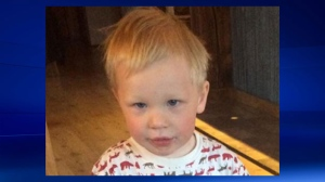 Two-year-old Issac Leuenberger survived a night in the B.C. wilderness after wandering away during a family walk in an East Kootenay campground (RCMP)
