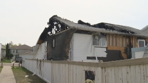Edmonton firefighters responded to the scene of a house fire in the Jackson Heights neighbourhood of Mill Woods on Sunday, May 1, 2016.