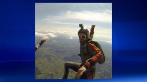 Kristin Renee Czyz skydiving in an undated photograph (Facebook)