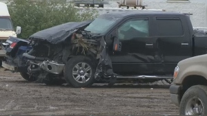 The RCMP Collision Investigation Team was called to the scene of a two vehicle collision involving a mid-sized car and pickup truck near Leduc on Friday, May 20, 2016.