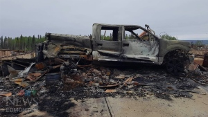 Fort McMurray - burned truck