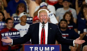 In this May 24, 2016 file photo, Republican presidential candidate Donald Trump speaks at a campaign event in Albuquerque, N.M. According to an AP count: Trump has reached the number of delegates needed to clinch the Republican nomination for president. (AP Photo/Brennan Linsley, File)