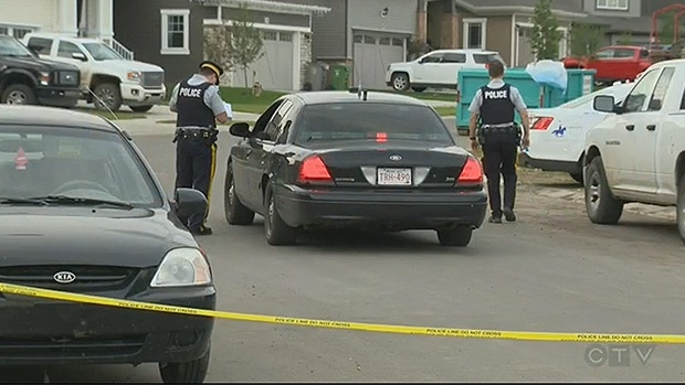 RCMP investigate after a teenage boy was found outside a Beaumont residence on Tuesday, June 21.