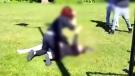 Violent struggle between teens caught on cam