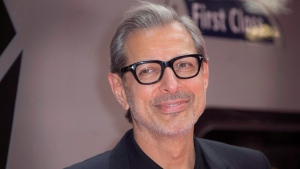 Actor Jeff Goldblum poses for photographers at the photo call for the film Independence Day Resurgence at Euston Station in central London, Monday, June 6, 2016. (AP, Joel Ryan/Invision / THE CANADIAN PRESS)