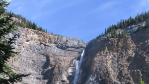 Takakkaw Falls, near Field, B.C., shown in this recent photo. THE CANADIAN PRESS/Bill Graveland