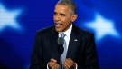 U.S. President Barack Obama speaks during the third day of the Democratic National Convention in Philadelphia , Wednesday, July 27, 2016. (AP / J. Scott Applewhite)
