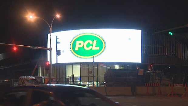 A bright, digital billboard is one of the newest additions to Rogers Place, but it's causing problems for people living nearby.