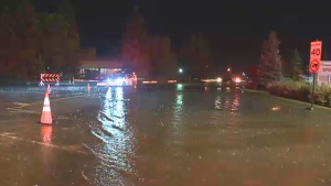 Heavy rains in the Westlock area prompted flooding late Monday evening.