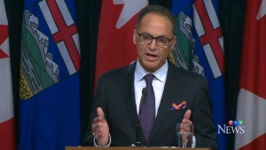 Alberta Finance Minister Joe Ceci delivers the first quarter fiscal update on Tuesday, August 23, 2016.