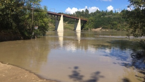 Officials have issued a warning for Edmontonians to avoid the river as the water levels are rising rapidly. The North Saskatchewan River is seen here off of Gold Bar Park.