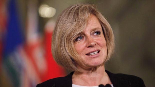 Alberta Premier Rachel Notley speaks during a media availability at the Alberta Legislature Building in Edmonton on May 26, 2016. (THE CANADIAN PRESS / Codie McLachlan)