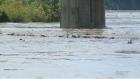 River level receding