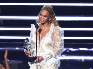 Beyonce accepts the award for Video of the Year for 'Lemonade' at the MTV Video Music Awards at Madison Square Garden on Sunday, Aug. 28, 2016, in New York. (Photo by Charles Sykes/Invision/AP)