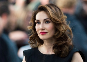 Actress Carice Van Houten poses for photographs on the red carpet at the gala for the new movie 'The Fifth Estate' during the 2013 Toronto International Film Festival in Toronto on Thursday, Sept. 5, 2013. (THE CANADIAN PRESS/Nathan Denette)