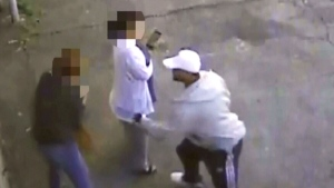 Disturbing video shows man attacking women
