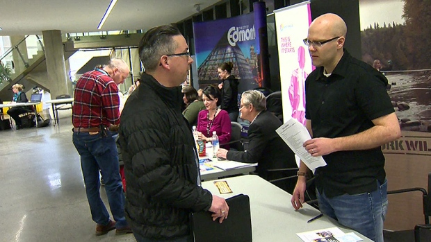 The Alberta Employment & Career Fair launches Friday morning, featuring up to 100 exhibitors and over 10,000 visitors at the Edmonton EXPO Centre.