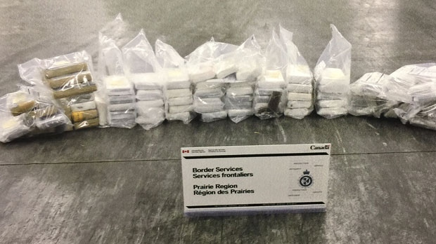 The total bust represents the largest amount of the drug ever seized in the Prairie Region, the CBSA says. (Supplied)