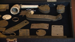 Crews at CFB Esquimalt have been dredging contaminated soil as part of ongoing remediation work, but never expected to find lost artifacts like diving knives, weddings rings and pipes, some over a century old. (CTV Vancouver Island)