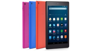 Amazon Fire HD 8 tablets. (Amazon via AP)