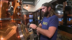 Head brewer Spike Baker was on shift when the wildfire hit Fort McMurray six months ago.