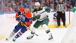 Oilers versus Wild