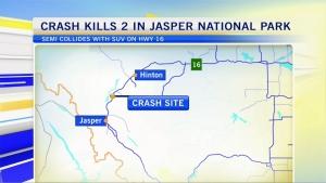 Fatal head-on collision near Jasper