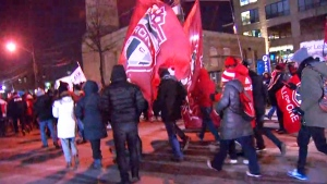 TFC fans march through Toronto to MLS Cup final