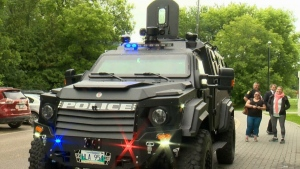 An armoured rescue vehicle purchased by the Winnipeg Police Service last year for $342,800 is seen here.