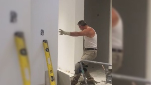 "Tony Restivo was recorded dancing to the hit song ""Into You"" by Ariana Grande at a construction site in a viral video last.week."