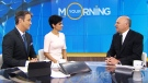 Celebrity investor Kevin O'Leary appears on CTV's Your Morning moments after officially declaring his intentions to run for leadership of the Conservative Party of Canada on Facebook on Wednesday, Jan. 18, 2016.