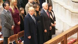 President Trump attends prayer service