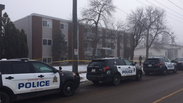 Edmonton police are investigating a suspicious death in the area of 110 Avenue and 84 Street Saturday morning.
